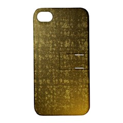 Gold Apple Iphone 4/4s Hardshell Case With Stand