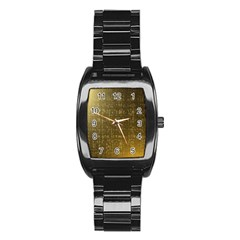 Gold Stainless Steel Barrel Watch