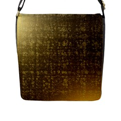 Gold Flap Closure Messenger Bag (Large)