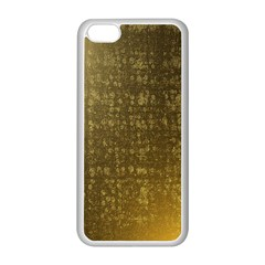 Gold Apple iPhone 5C Seamless Case (White)