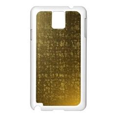 Gold Samsung Galaxy Note 3 N9005 Case (White)