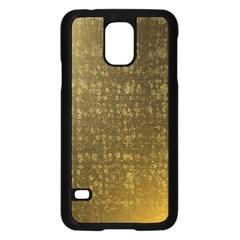 Gold Samsung Galaxy S5 Case (black)
