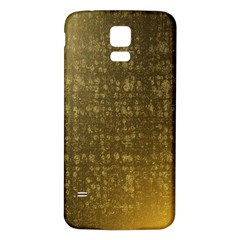 Gold Samsung Galaxy S5 Back Case (White)