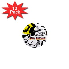 Happy Halloween Collage 1  Mini Button Magnet (10 Pack)