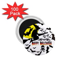 Happy Halloween Collage 1.75  Button Magnet (100 pack)