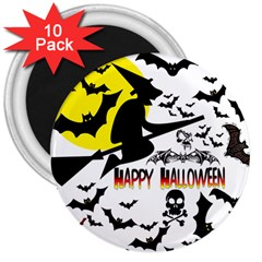 Happy Halloween Collage 3  Button Magnet (10 pack)