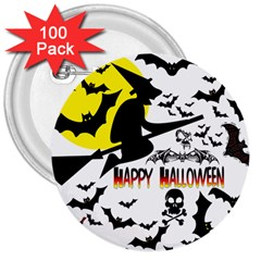 Happy Halloween Collage 3  Button (100 Pack)