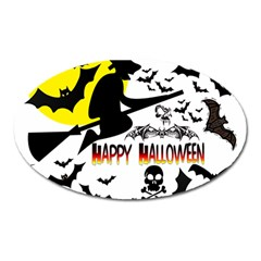 Happy Halloween Collage Magnet (oval)