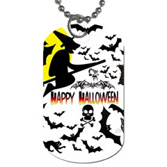 Happy Halloween Collage Dog Tag (One Sided)