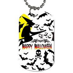 Happy Halloween Collage Dog Tag (Two-sided)