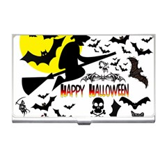 Happy Halloween Collage Business Card Holder
