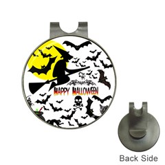 Happy Halloween Collage Hat Clip With Golf Ball Marker