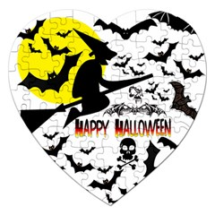Happy Halloween Collage Jigsaw Puzzle (heart)