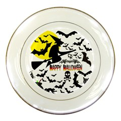 Happy Halloween Collage Porcelain Display Plate