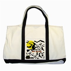 Happy Halloween Collage Two Toned Tote Bag