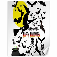 Happy Halloween Collage Canvas 36  x 48  (Unframed)