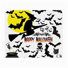 Happy Halloween Collage Glasses Cloth (Small, Two Sided)