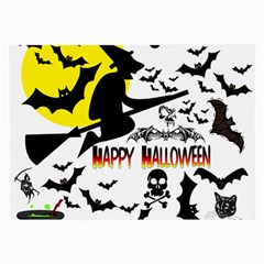 Happy Halloween Collage Glasses Cloth (Large, Two Sided)