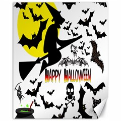 Happy Halloween Collage Canvas 11  X 14  (unframed)