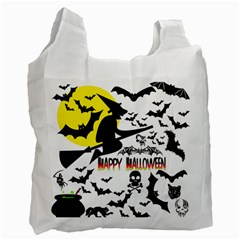 Happy Halloween Collage White Reusable Bag (two Sides)