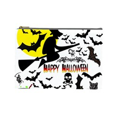 Happy Halloween Collage Cosmetic Bag (large)