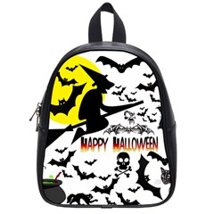 Happy Halloween Collage School Bag (small)