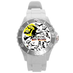 Happy Halloween Collage Plastic Sport Watch (large)