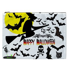 Happy Halloween Collage Cosmetic Bag (xxl)