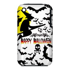 Happy Halloween Collage Apple Iphone 3g/3gs Hardshell Case (pc+silicone)