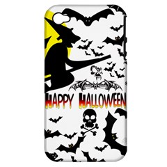 Happy Halloween Collage Apple Iphone 4/4s Hardshell Case (pc+silicone)
