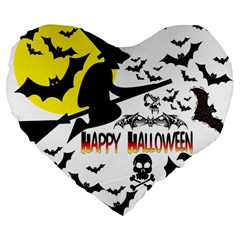 Happy Halloween Collage 19  Premium Heart Shape Cushion