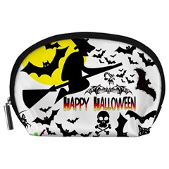 Happy Halloween Collage Accessory Pouch (large)