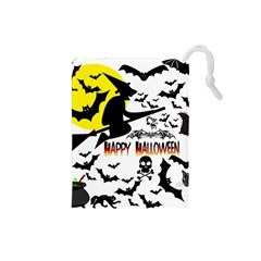 Happy Halloween Collage Drawstring Pouch (Small)