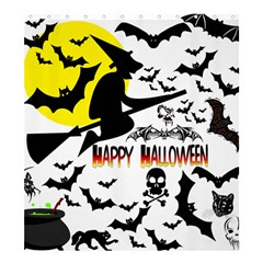 Happy Halloween Collage Shower Curtain 66  X 72  (large)