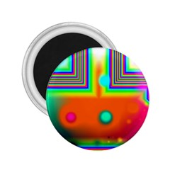 Crossroads Of Awakening, Abstract Rainbow Doorway  2 25  Button Magnet