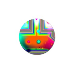 Crossroads Of Awakening, Abstract Rainbow Doorway  Golf Ball Marker