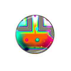 Crossroads Of Awakening, Abstract Rainbow Doorway  Golf Ball Marker (for Hat Clip)