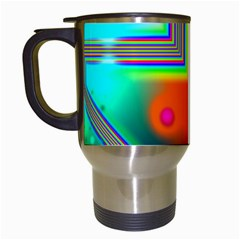 Crossroads Of Awakening, Abstract Rainbow Doorway  Travel Mug (White)