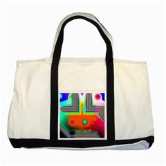 Crossroads Of Awakening, Abstract Rainbow Doorway  Two Toned Tote Bag