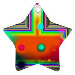 Crossroads Of Awakening, Abstract Rainbow Doorway  Star Ornament (Two Sides)