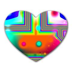Crossroads Of Awakening, Abstract Rainbow Doorway  Mouse Pad (heart)