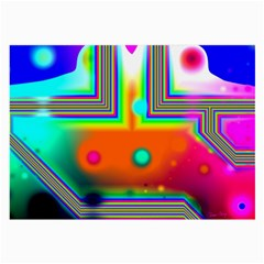 Crossroads Of Awakening, Abstract Rainbow Doorway  Glasses Cloth (large, Two Sided)