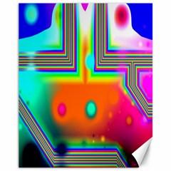Crossroads Of Awakening, Abstract Rainbow Doorway  Canvas 11  x 14  (Unframed)