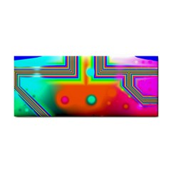Crossroads Of Awakening, Abstract Rainbow Doorway  Hand Towel