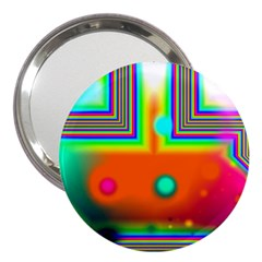 Crossroads Of Awakening, Abstract Rainbow Doorway  3  Handbag Mirror