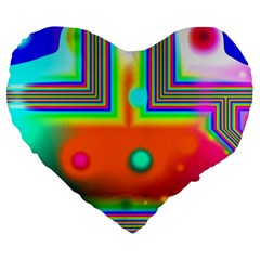 Crossroads Of Awakening, Abstract Rainbow Doorway  19  Premium Heart Shape Cushion