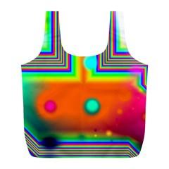 Crossroads Of Awakening, Abstract Rainbow Doorway  Reusable Bag (L)
