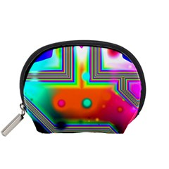Crossroads Of Awakening, Abstract Rainbow Doorway  Accessory Pouch (Small)