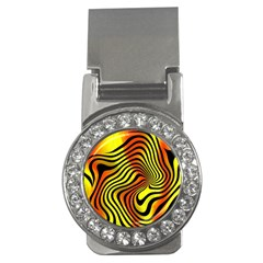 Colored Zebra Money Clip (CZ)