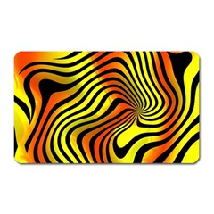 Colored Zebra Magnet (rectangular)